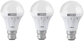 10W White LED Bulb (Pack Of 3)
