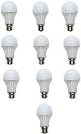 9W B22 LED Bulb (White, Set of 10)