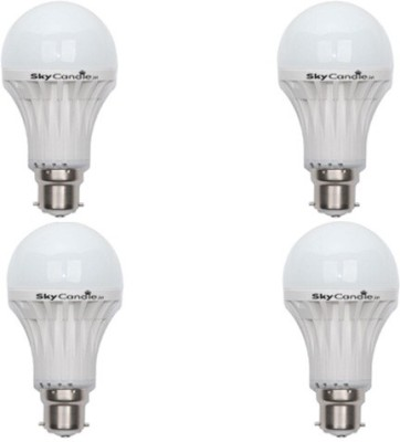 12W B22 LED Bulb (White, Set of 4)