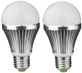 IPP 3W E27 Aluminium Body White LED Bulb (Pack of 2)