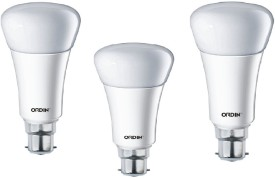 12W LED Bulb (White, Pack of 3)