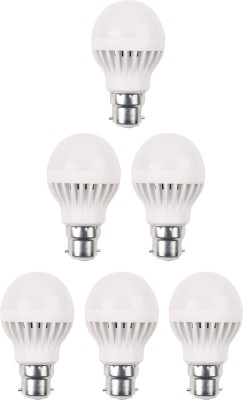 3W 460 Lumens White Eco LED Bulbs (Pack Of 6)