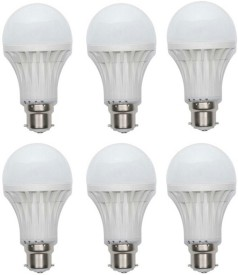 18W B22 LED Bulb (White, Set of 6)