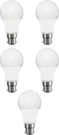 5W Round LED Light Bulb (White, Pack of 5)
