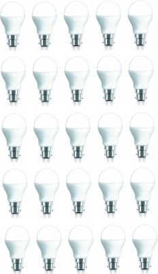 7W 600 Lumens Cool White LED Bulb (Pack of 25)