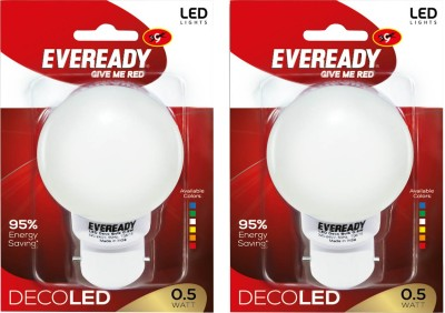 0.5 W Deco UP LED Bulb (White, Pack of 2)