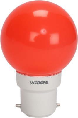 0.5W B22 LED Bulb (Red, Set of 10)