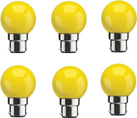 0.5W Yellow LED Bulbs (Pack Of 6)
