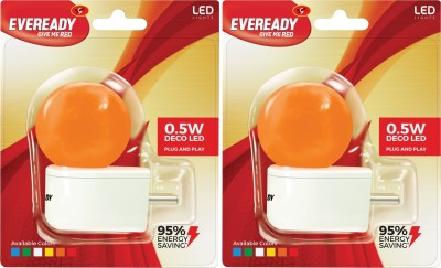 0.5W Plug and Play Orange Deco LED Bulb (Pack of 2)