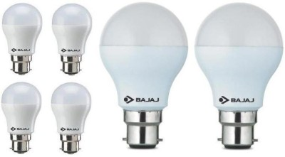 3 W, 7 W LED Bulb B22 White (pack of 6)