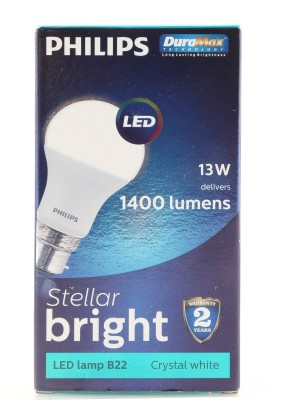 Stellar-Bright-B22-13W-1400-Lumens-LED-Bulb-(Cool-Day-Light,-Pack-Of-4)