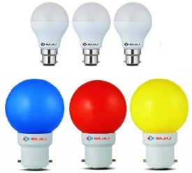 -7W-White-And-0.5W-(Blue,-Red,-Yellow)-LED-Bulb-(Pack-of-6)-