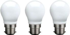 3 W B22 QA0301 LED Bulb (White, Pack of 3)