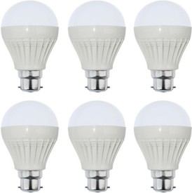 Goldpack 5W Plastic White LED Bulb (Pack Of 6)