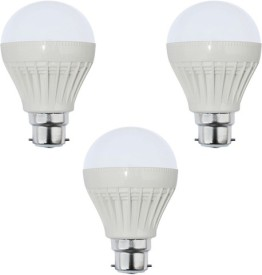 Goldpack 5W Plastic White LED Bulb (Pack Of 3)