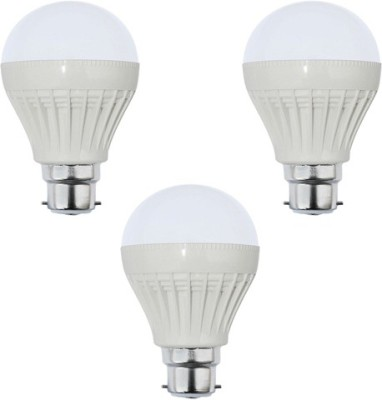 3W Plastic White LED Bulb (Pack Of 3)