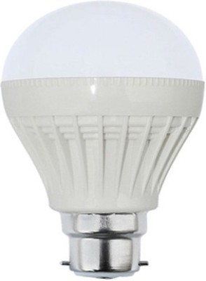 5W Plastic White LED Bulb (Pack Of 4)