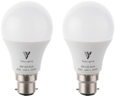Lighting 5 W LED Bulb (White, Pack of 2)