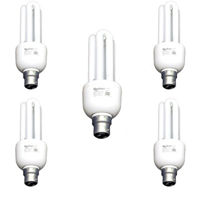 20-W-3U-Lamp-B22-Cap-CFL-Bulb-(Cool-Day-Light,-Pack-of-5)