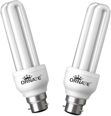 8 W CFL Bulb (White, Pack of 2)