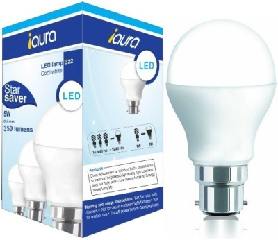 Iaura-5W-350-Lumens-Cool-White-LED-Bulb-(Pack-of-4)