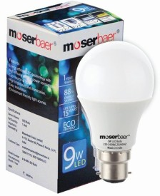 Moserbaer 9W LED Bulb (Cool White)