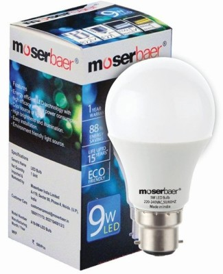 9W White LED Bulb (Pack Of 4)