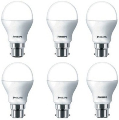 7W White LED Bulbs (Pack Of 6)