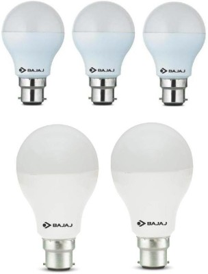 7 W, 12 W LED Bulb B22 White (pack of 5)