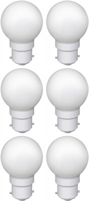 0.5W LED Bulb (White, Pack of 6)