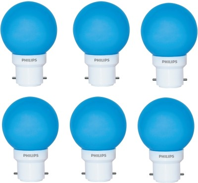 0.5 W Deco B22 IND LED Bulb (Blue, Pack of 6)