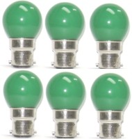 Osram 0.5W B22 LED Bulb (Green, Pack Of 6)