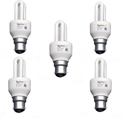 5-W-2U-Lamp-B22-Cap-CFL-Bulb-(Cool-Day-Light,-Pack-of-5)