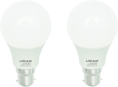 12W B22 LED Bulb (Cool White, Set of 2)