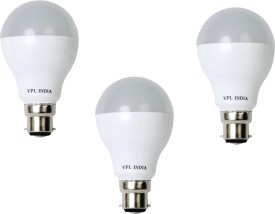 7W Warm White LED Bulb (Pack of 3)