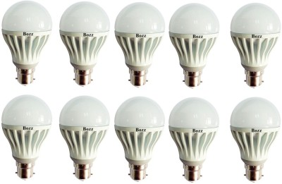 9W B22 LED Bulb (White, Pack of 10)