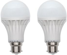 5W B22 LED Bulb (White, Set of 2)