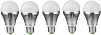 IPP 5 W LED (Set Of 5) E27 5 Watt Long Life - Full Aluminium Body - Superb Design Bulb (White, Pack Of 5)