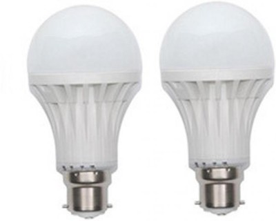 9W LED Bulb B22 White (pack of 2)