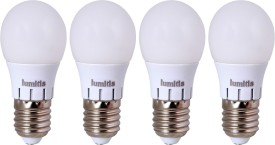 Lumitis 3W White LED Bulb (Pack of 4)