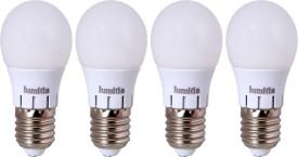 Screw Type 7W LED Bulbs (Warm White, Pack of 4)