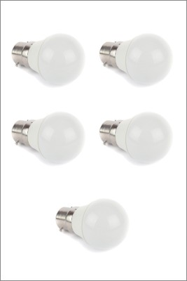 3W LED Bulb (White, Pack of 5)