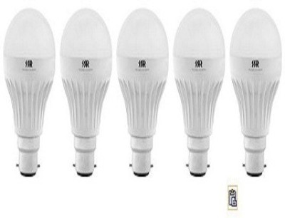 5W B22 White LED Bulb (Pack of 5)