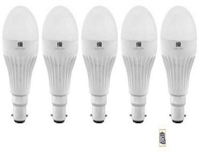 5W B22 White LED Bulb (Pack of 5)