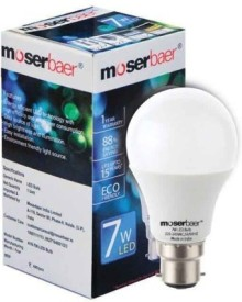 Moserbaer 7W LED Cool Bulbs (White, Pack of 8)