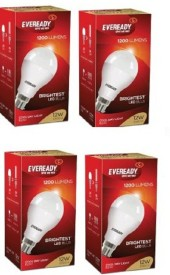 12 W White LED Bulb (Pack of 4)