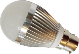 3W Aluminium LED Bulb (White, Pack of 5)