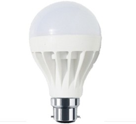 3W B22 White LED Bulb (Plastic)