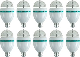 3 W LED Bulb (Multicolor, Pack of 10)