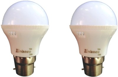 3W B22 LED Bulb (White) [Pack of 2]